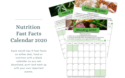 Nutrition Fast Facts Calendar 2020