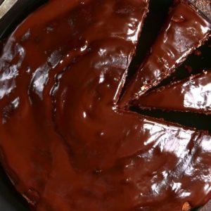 Chocolate Cake with Chocolate Coconut Cream Glaze